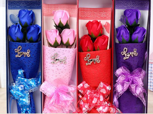 hoa hồng sáp 3 bông