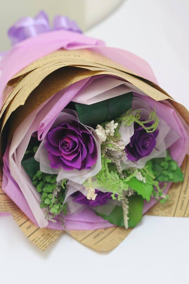 bó hoa hồng bất tử