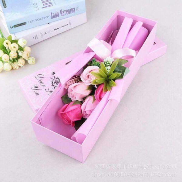 hoa hồng sáp thơm 5 bông hồng cao cấp