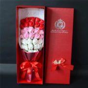hoa hồng sáp thơm hộp 33 bông đỏ