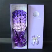 hoa hồng sáp thơm hộp 33 bông tím