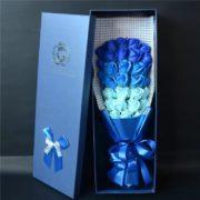 hoa hồng sáp thơm hộp 33 bông xanh