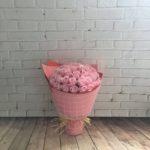 bó hoa sáp 52 bông hồng phấn