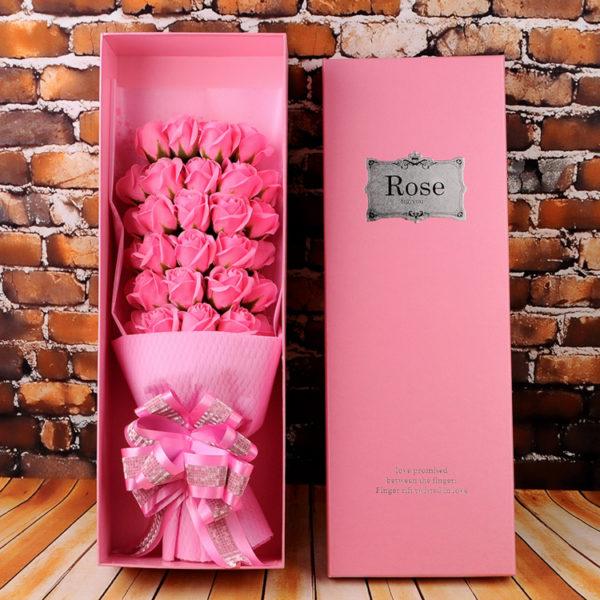 hộp hoa hồng sáp 33 bông hồng nhạt