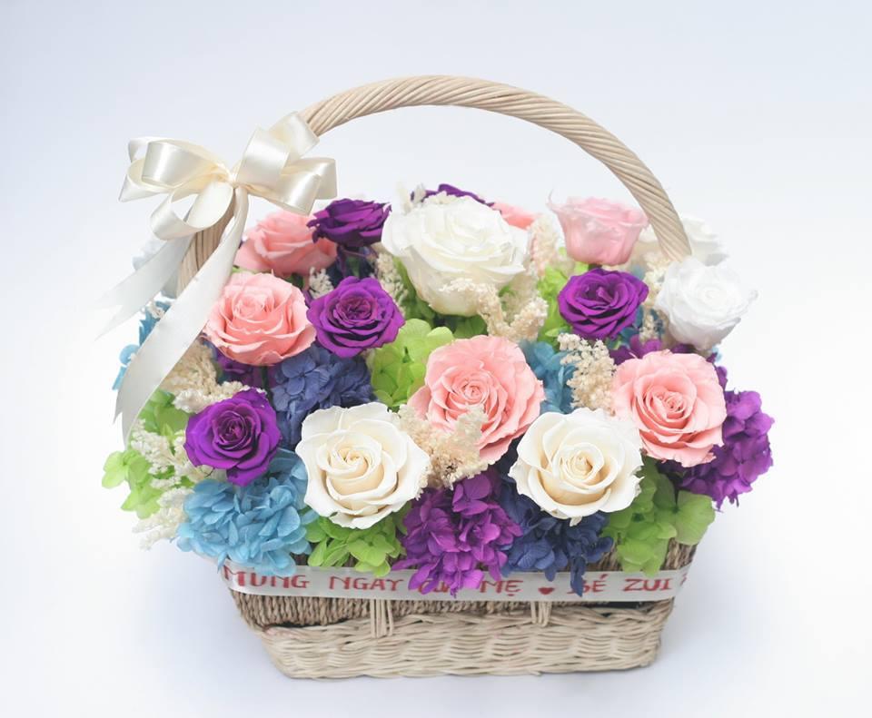 hoa hồng tặng mẹ