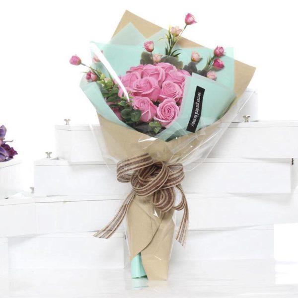 Hoa hồng sáp thơm bó 21 bông cao cấp