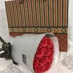 Bó hoa hồng sáp 11 bông đỏ