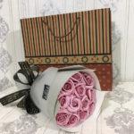 bó hoa hồng sáp thơm 11 bông hong-phot