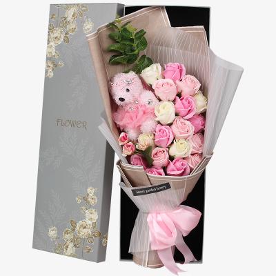 Hoa hồng sáp thơm 21 bông